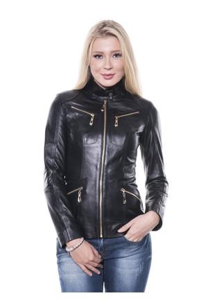 İparelde B16 Siyah Bayan Deri Ceket