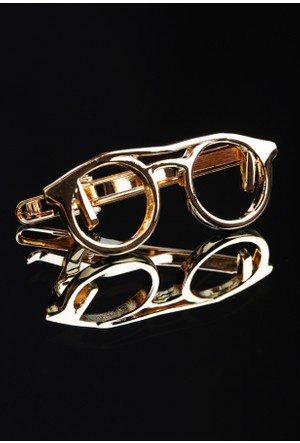 La Pescara Gözlük Gold Kravat İğnesi Kıy12