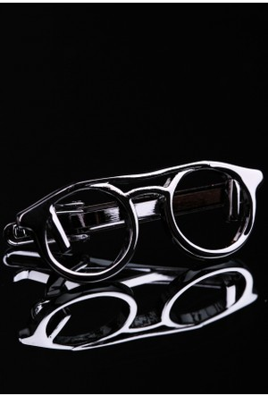 La Pescara Gözlük Koyu Gümüş Kravat İğnesi Kıy34