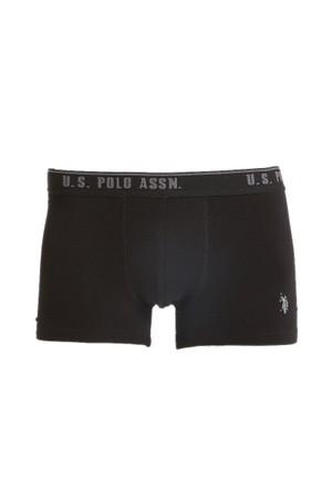 U.S. Polo Assn. Erkek 3'lü Paket Boxer Siyah
