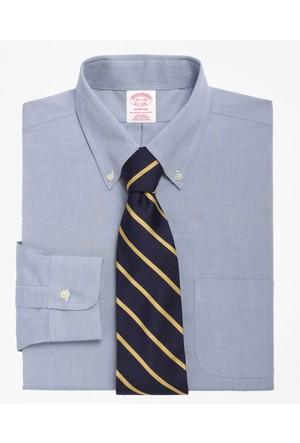 Brooks Brothers Düğmeli Yaka Regular Açık Mavi Gömlek