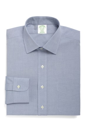 Brooks Brothers Kravat Yaka Ekstra Slim Mavi Gömlek