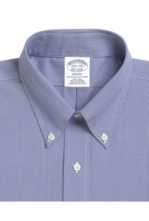 Brooks Brothers Düğmeli Yaka Kaz Ayağı Açık Mavi Gömlek