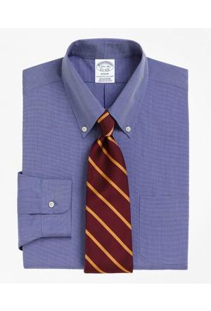 Brooks Brothers Düğmeli Yaka Slim Açık Mavi Gömlek