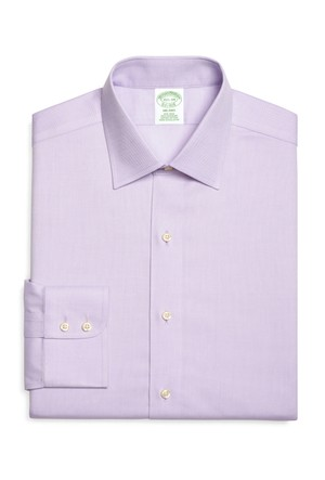 Brooks Brothers Kravat Yaka Oxford Milano Ekstra Slim Mor Gömlek