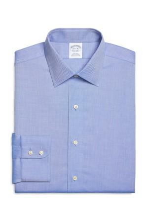 Brooks Brothers Kravat Yaka Mavi Gömlek