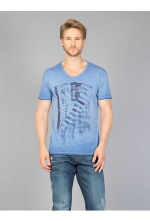 Colin's Mavi Erkek T-Shirt Kısa Kol
