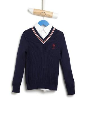 U.S. Polo Assn. Erkek Çocuk Triko Kazak Bts01Sk6
