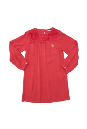 U.S. Polo Assn. Kız Çocuk Dokuma Elbise Kreno