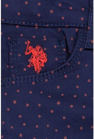 U.S. Polo Assn. Kız Çocuk Dokuma Spor Pantolon Sherry6S