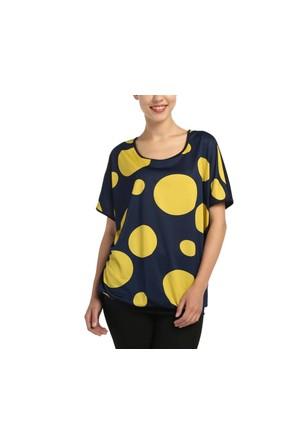 Lir Büyük beden İri Puanlı Kadın Sarı Tunik 3152