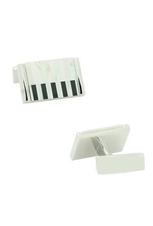 Chavin Sedef Piyano Model Çelik Kol Düğmesi cf84