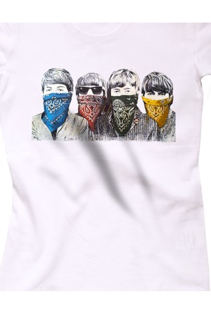 The Chalcedon Beatles Printed Kadın T-Shirt