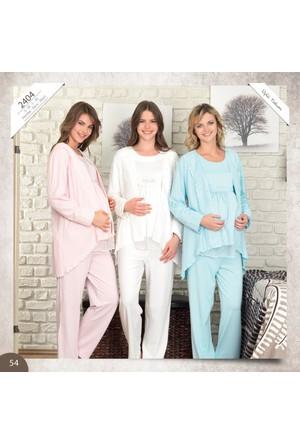 BH2404 Lohusa 3 lü Pijama Takımı BH2404 005
