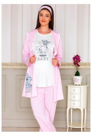 BH2913 Baha 3lü Lohusa Pijama Takımı BH2913 041