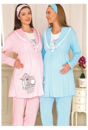 BH2913 Baha 3lü Lohusa Pijama Takımı BH2913 043