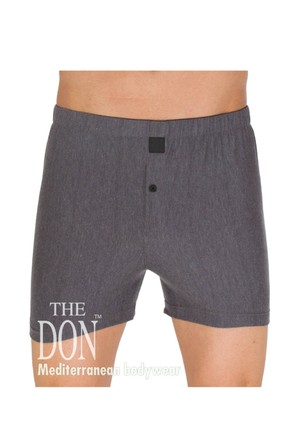 The Don Jersey/Penye Gri Melanj Renk Erkek Boxer