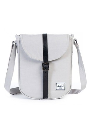 Herschel Çanta Kingsgate Select Lunar Rock/Black Died Veggie Tan Leather