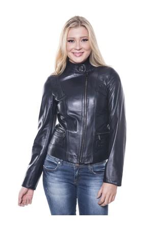 İparelde B92 Lacivert Kadın Deri Ceket
