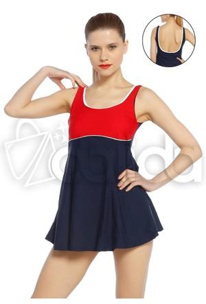 Full Likralı Marine Elbise Mayo - Azra - 15821 - Lacivert