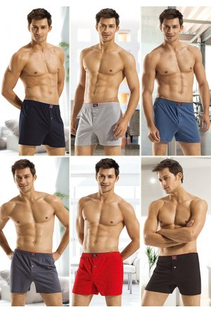 Özkan Erkek Penye Boxer 6 ADET AVANTAJ PAKETİ %100 Pamuk