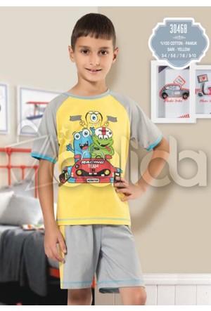 Özkan 30468 Erkek Çocuk Şortlu Takım - Sarı