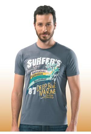 Kısa Kollu Erkek Tişört Surfers 11021 Özkan