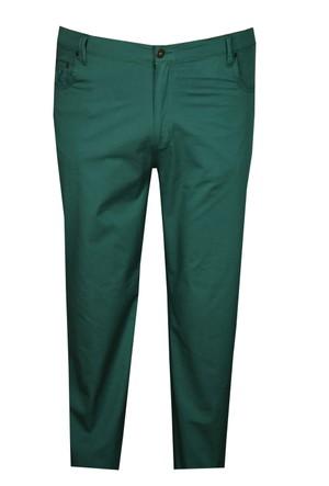 FaLa Jeans Büyük Beden Keten Pantolon Yeşil