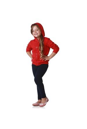 Zeyland Unisex Çocuk Kırmızı Kapşonlu Sweat K-61Kl1729