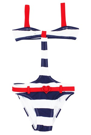 Tuc Tuc Çizgili Trikini Mayo Navy Girl