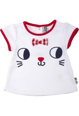 Tuc Tuc Kedi Baskılı T-Shirt Saint Tropez