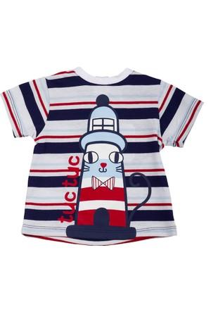 Tuc Tuc Deniz Feneri Baskılı T-Shirt Saint Tropez