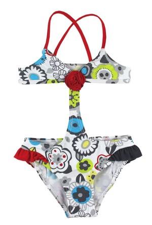 Tuc Tuc Trikini Çiçekli Mayo Monsters