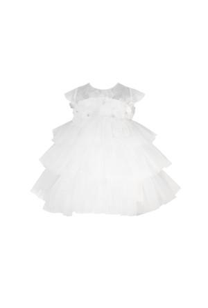 Chic Kız Bebek Abiye Elbise Kuğu