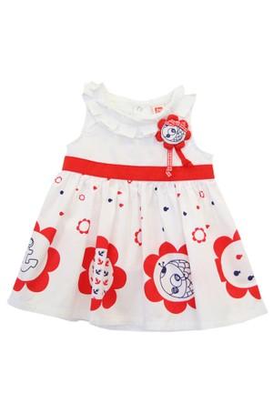Tuc Tuc Balık Baskılı Elbise Külot Takım Ancla