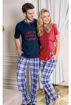 Yeni İnci Erkek Eş Pijama Takımı 600