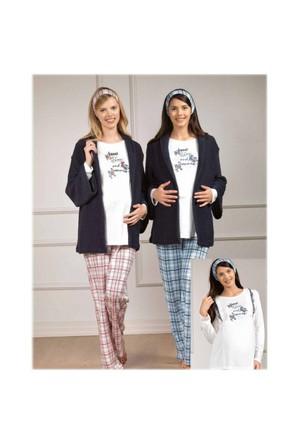 Baha Lohusa Pijama Sabahlık Takım 2822