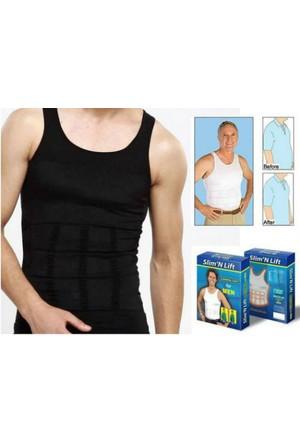 Toptancı Kapında Slim N Lift Erkekler İçin Atlet Tipi Göbek Korsesi - Xxl - Siyah