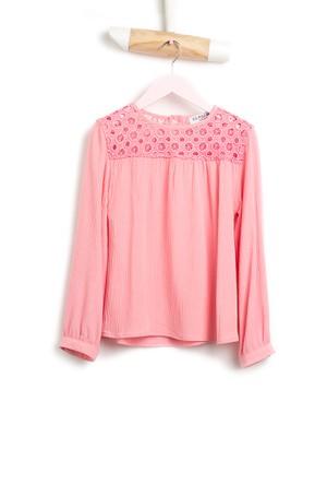 U.S. Polo Assn. Crochet Kız Çocuk Dokuma Gömlek