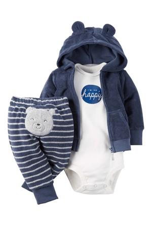 Carter's Layette Erkek Bebek Havlu 3lü Set 126G281