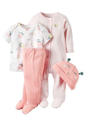 Carter's Layette Kız Bebek 4lü Hastane Çıkış Seti 126G351