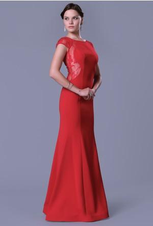Pierre Cardin Sırtı Açık Uzun Krep Elbise