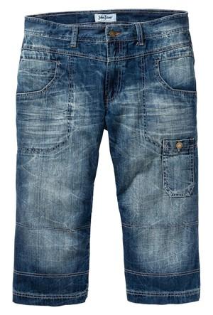 John Baner Jeanswear Mavi 3/4 Paça Jean Regular Fit Straight