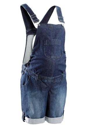 Bpc Bonprix Collection Mavi Hamile Giyim Şortlu Jean Tulum