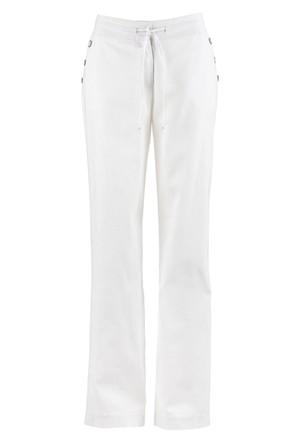 Bpc Bonprix Collection Beyaz Geniş Kesim Keten Pantolon