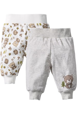 Bpc Bonprix Collection - Beyaz Bebek Giyim Organik Pamuklu Sweat Pantolon (2Li Pakette)