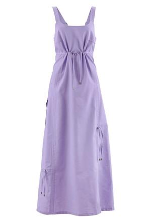 Bpc Bonprix Collection Lila Keten Kumaş Elbise