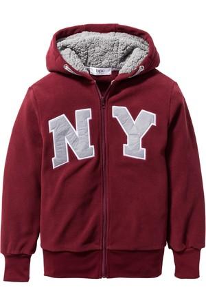 Bpc Bonprix Collection - Kırmızı Aplikeli Polar Ceket