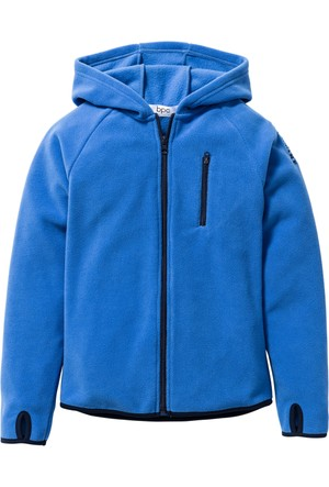Bpc Bonprix Collection - Mavi Kontrast Renkte Detaylı Polar Ceket