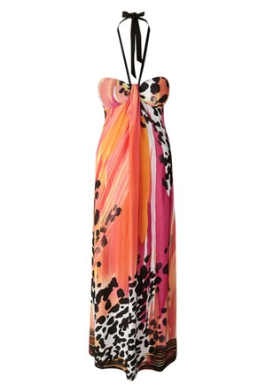 Bodyflirt Turuncu Maxi Elbise